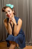 Young gorgeous female with cute hair style Royalty Free Stock Image