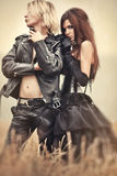 Young goth couple portrait stock image