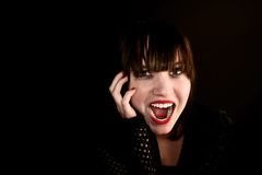 Young goth woman screaming Royalty Free Stock Photos