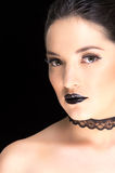 Young gothic beautiful woman Stock Image