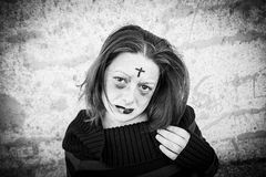 Young gothic and insane Royalty Free Stock Photo