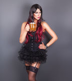 Young gothic woman in corset Royalty Free Stock Photography