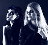 Young gothic women Royalty Free Stock Photos