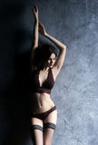 Young and graceful woman in erotic lingerie Royalty Free Stock Photo