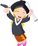 Young graduate girl. A young graduate girl holding certificate with cheerful smile Royalty Free Stock Images
