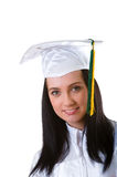 Young graduate isolated Stock Image