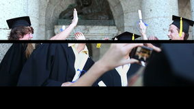 Young graduate people stock video footage