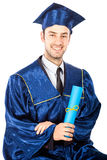 Young graduate student Royalty Free Stock Photo