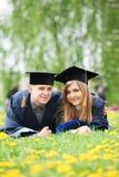 Young graduate students Stock Photos