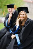 Young graduate students royalty free stock photos