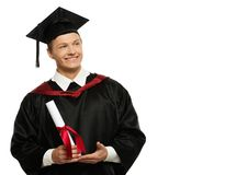 Young graduated man Stock Photo