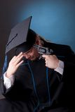 Young graduation man Royalty Free Stock Photography