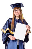 Young graduation woman Stock Images