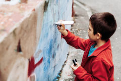 Young graffiti artist Stock Photography