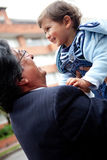 Young grandfather with a child Royalty Free Stock Photography