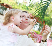 Young grandmother and granddaughter Stock Photos