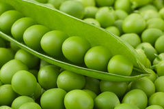 Young grean peas background Stock Photo