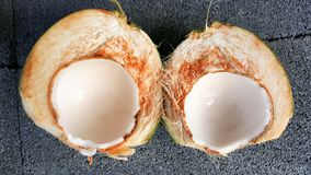 Young green coconuts with nutrient, health benefits, dietary fib. This is young green coconuts with nutrient, health benefits, dietary fiber and high Royalty Free Stock Photo