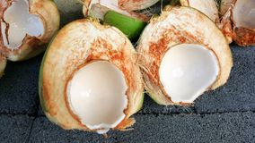 Young green coconuts with nutrient, health benefits, dietary fib. This is young green coconuts with nutrient, health benefits, dietary fiber and high Royalty Free Stock Image