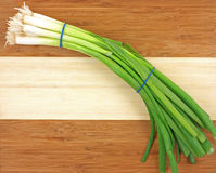Young green onions Stock Photo