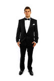 Young groom in a tuxedo Stock Photos
