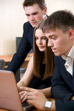 Young group of business people working Royalty Free Stock Photography