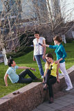 Young group communication Stock Images