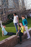 Young group communication Royalty Free Stock Images