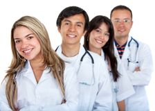 Young group of doctors Royalty Free Stock Photos