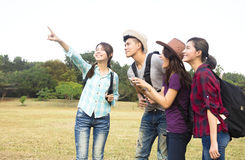 Young group enjoy vacation and tourism. Concept Royalty Free Stock Photos