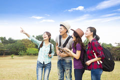 Young group enjoy vacation and tourism Royalty Free Stock Photography