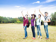 Young group enjoy vacation and tourism Royalty Free Stock Photo