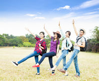 Young group enjoy vacation and tourism. Concept Royalty Free Stock Photo
