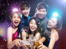 Young group Enjoying party and having fun Stock Image