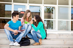 Young group of students in campus Royalty Free Stock Photo