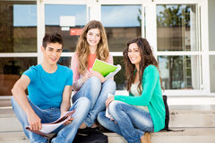 Young group of students in campus Stock Photography