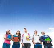 Young group of students standing together Royalty Free Stock Photos