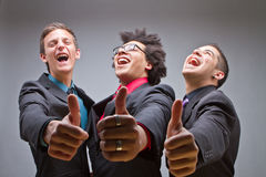 Young group of young and trendy business men Stock Photos