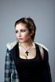 Young grunge girl portait Stock Photos