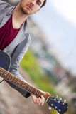 Young guitar performer Royalty Free Stock Photos