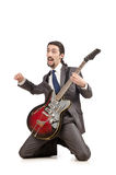 Young guitar player Royalty Free Stock Image