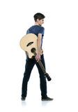 Young guitar player Royalty Free Stock Photography
