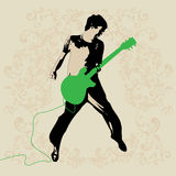 Young Guitar Player Vector Stock Photography