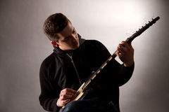 Young guitarist Royalty Free Stock Photo