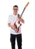 Young guitarist playing guitar Royalty Free Stock Photos