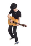 Young guitarist playing guitar Stock Photography