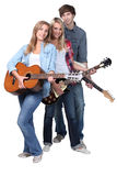 Young guitarists Stock Images