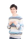 The young guy boxs (isolated) Royalty Free Stock Photos