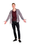 Young guy dressing urban street style posing isolated Stock Photo