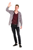 Young guy dressing urban street style posing isolated Royalty Free Stock Image